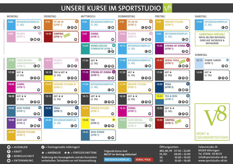 Kursplan_KW8_v4 in deinem Fitnessstudio in Vöhringen