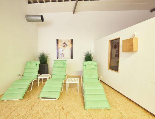 Sauna im V8 Fitnessstudio in Vöhringen