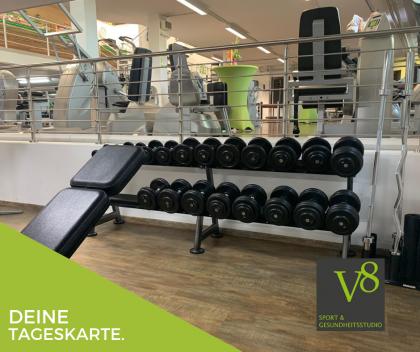 Tageskarte im V8 Fitnessstudio in Vöhringen online kaufen & buchen